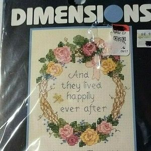 Dimensions Cross Stitch Kit Vintage 14 Ct Wedding